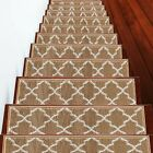 Carpet Stair Treads Pre-applied Double Sided Tape, Pack of 4 7 13