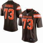 Mens SMALL Nike CLEVELAND BROWNS Game Jersey JOE THOMAS NFL Shirt Home B on eBay