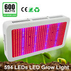 LVJING 600W LED Grow Light Double Chip Full Spectrum Red/Blue/UV/IR For Plants