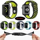 For Apple Watch 42mm 38m iWatch Replacement Silicone Sport Band Strap MultiColor