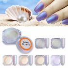 BORN PRETTY  Nail Glitter Powder Pearl Shell Nail Art Decor Pigment Dust