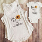 Внешний вид - Mother and Daughter Matching Outfits Women Tee Tops Newborn Baby Girls Romper