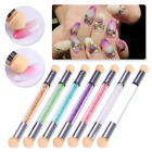Dual-ended UV Gel Painting Nail Gradient Brush Nail Art Sponge Pen Decors Tool