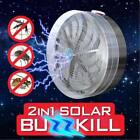 Solar Powered Buzz UV Lamp Light Fly Insect Bug Mosquito Kill Zapper Killer Hot