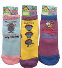 6 Pairs Little Miss Girls Socks Sizes 6-8 & 9-12 Available