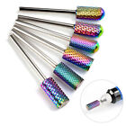 "Pro 3/32"" Carbide Nail Drill Bits For Acrylic Nails Bit Cuticle Cleaner Manicure"