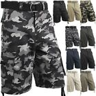 Внешний вид - Mens Cargo Shorts with Belt 30 52 Casual Short Camo Pants Summer Multi Pocket IH