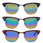 Ray Ban Clubmaster Rainbow Flash Mens Sunglasses RB3016 - Choose size & color