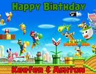 Super Mario Bros. Personalized Edible Print Cake Topper Frosting Sheets 5 Sizes