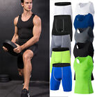 Mens Compression Tops Shorts Workout Fitness Running Bodybuilding Tights Wicking