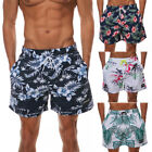 Mens Beachwear Boards Trunks Surfing Swimming Shorts Floral Print with Pockets