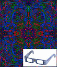 """3D Tapestry """"Psychedelic Liquid L"""" (Glasses Included) - 2 Sizes"""