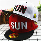 Children Boys Girls Sunny Hat Cap Baseball Snapback Kids  Hip Pop SUN