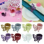50PCS Butterfly Laser Cut Paper Napkin Ring Wedding Table Party Decoration Tool