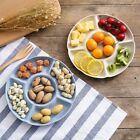 Multi-function Fruit Plate Plastic Dessert Tray Plate Snack Dish 6 Compartments