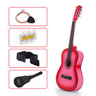 "38"" Beginners Acoustic Guitar with Guitar Case+Strap+Tuner&Pick Steel Strings"