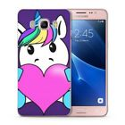 Cute Colorful Rainbow Unicorn Cartoon Girl Pegasus Cover Case Fit Samsung Galaxy