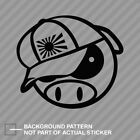 Angry Rally Pig with JDM Hat Sticker Die Cut Decal japan rising sun