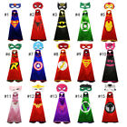 Внешний вид - 15 styles one-layer children Super hero Capes and mask set Superhero cosplay cap