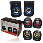 COPPIA CASSE SPEAKER ALTOPARLANTI STEREO PER PC SMARTPHONE NOTEBOOK MP3 LINQ