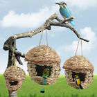 Straw Bird Nest Birdhouse for Parrot Hamster Small Animal's Cage Birds Breeding