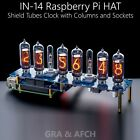 IN-14 ARDUINO SHIELD NCS314 RASPBERRY PI HAT NIXIE TUBES CLOCK [WITH OPTIONS]