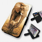 lumia 520 cases and covers - CUTE ELEPHANT AND BABY FLIP PHONE CASE COVER WALLET CARD HOLDER (F)