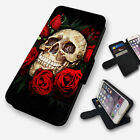 lumia 520 cases and covers - AZTEC SKULL AND ROSES FLIP PHONE CASE COVER WALLET FAUX LEATHER
