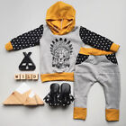 Lion Newborn Baby Kids Boys Hooded Tops+Long Pants 2pcs Clothes Outfits Set AU