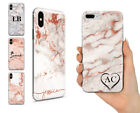 PERSONALISED NAME ON ROSE GOLD MARBLE CUSTOM HARD PHONE CASE FOR IPHONE XS XR