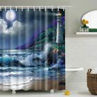 Various Assorted Bathroom Shower Curtain Waterproof Panel Fabric Sheer With Hook