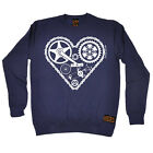 Cycling Sweatshirt Heart Parts top bicycle cycle funny Birthday JUMPER