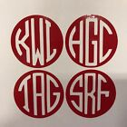Custom Vinyl Monogram, Small For Luggage, Cell Phones, Handbags Etc. 1 & 2 Inch