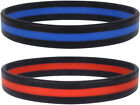 Thin Line Wrist Bracelets Support First Responders, Firefighter Red Police Blue