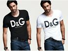 New 1Dolce 1Gabbana logo Popular Top T-Shirt White Or Black Tee Size M-2XL
