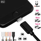 UGI Micro USB Type C Magnetic Adapter Charger Cable For iPhone 7 Android Lot US