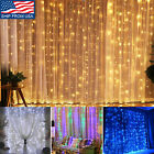curtain light - 300 LED 3m Fairy Curtain String Lights Wedding Party Perfect Holiday White /Blue