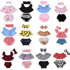 3pcs Newborn Toddler Baby Girl Summer Clothes Tank Tops+Shorts Pants Outfits Set