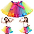 2018 Brand New Kids Adult Rainbow Tulle Skirt All Sizes Birthday Party Wear