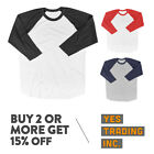 KIDS CASUAL BASEBALL T SHIRT RAGLAN SHIRTS BOYS GIRLS PLAIN TEE COTTON SHIRTS