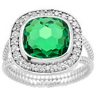 Simulated Indian Emerald 925 Sterling Silver Ring Jewelry Size 6-9 DGR1072_G