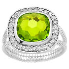 Simulated Peridot 925 Sterling Silver Ring Jewelry Size 6-9 DGR1072_I