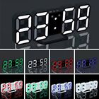 LED Digital Large Big Jumbo Snooze Wall Room Desk Calendar Alarm Clock Display L