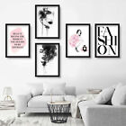 Set of 5 ART PRINT of COCO CHANEL Quote & Perfume / faces WATERCOLOUR painting