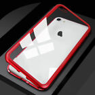 For iPhone 8+/8 plus Magnetic Adsorption metal case luxury tempered glass cover