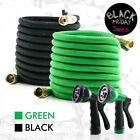 Deluxe 25 50 100 FT Expandable Flexible Garden Water Hose Spray Nozzle
