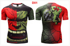 Mens t shirt compression top gym superhero avengers marvel muscle superman Shirt <br/> Asia size,pls buy bigger two size than your UK Size.