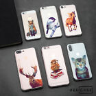 Cute Watercolor Art Animal Horse Bird TPU Phone Case Cover For iPhone X 6s/7/8+