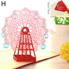 Happy Birthday Invitation Decor Pop Up 3D Greeting Cards Ferris Wheel Handmade
