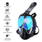 ENKEEO Full Face Snorkel Mask Anti Fog Underwater Breathing Diving Water Sport
